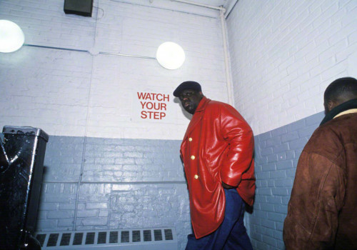 20 Apr 1996, New York State, USA --- Rapper Notorious BIG (Christopher Wallace) on his way to perform at the Jon Stewart show in NYC. --- Image by © Chi Modu/Diverse Images/Corbis